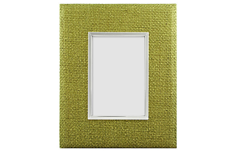 Rattan Frame, 4x6, Green