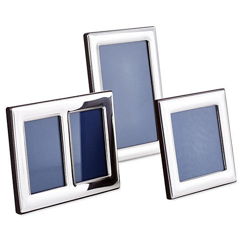 Asst. of 3 Double-Beaded Sterling Frames