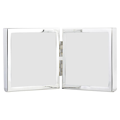3x3 Miro Double Picture Frame, Silver