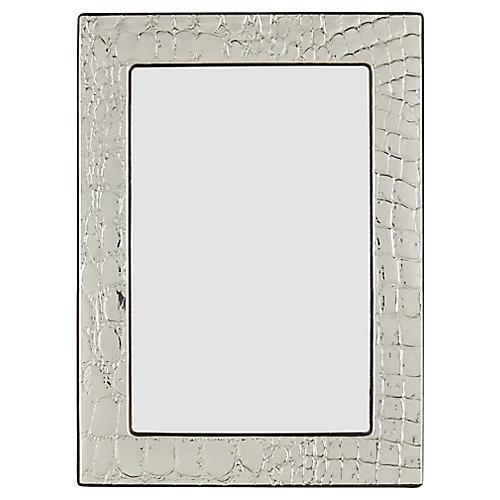 Rendon Croc Picture Frame, Silver
