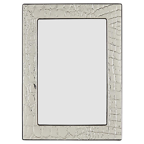 Rendon Croc Picture Frame, Silver