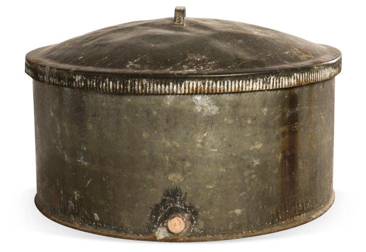 Vintage Oil Drum w/ Removable Top