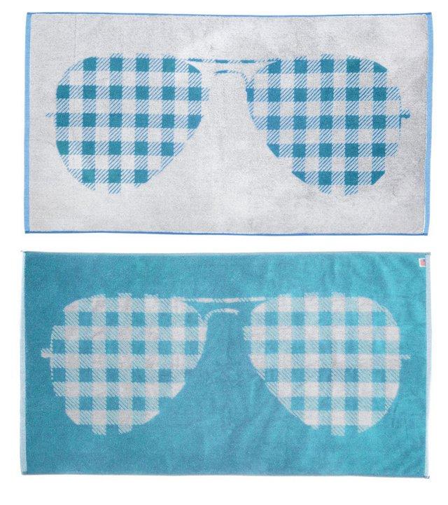 Steven Moss, Sunglasses Beach Towel