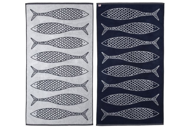 Stephen Haskell Fish Beach Towel
