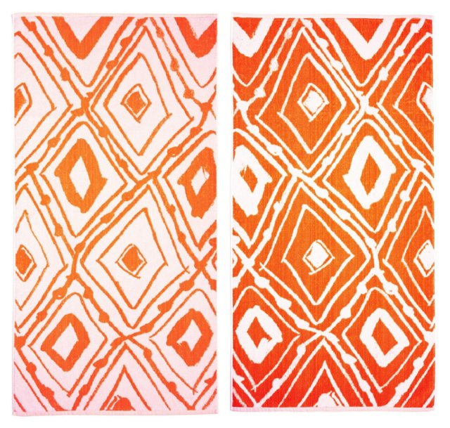 Leanne Shapton, Geometric Beach Towel