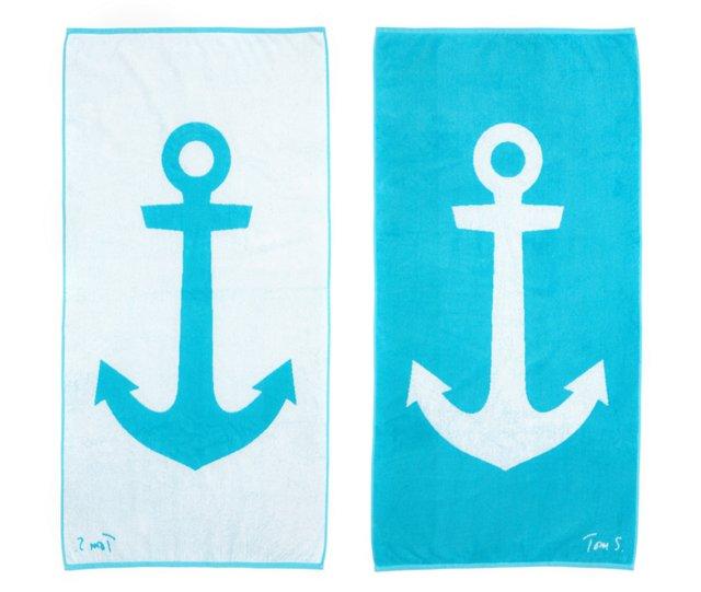 Tom Slaughter, Anchor Beach Towel
