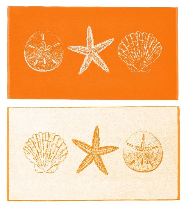Sand Dollar & Seashell Beach Towel