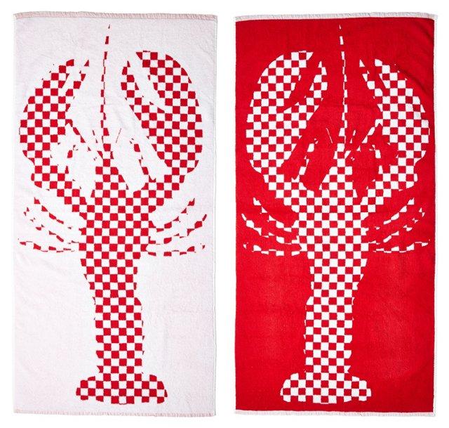 LeeAna Benson, Lobster Beach Towel