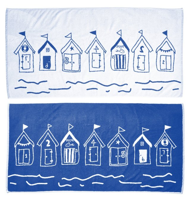 Willow Textiles, Beach Huts Towel