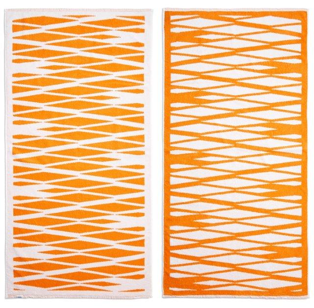 Karen Kuchel Beach Towel, Orange