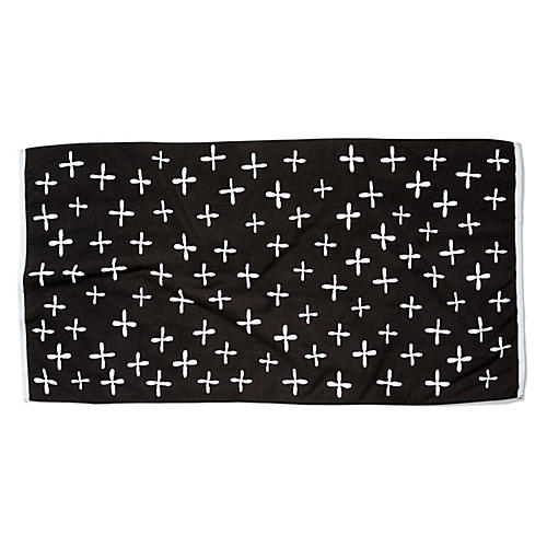 Cross Beach Towel, Black