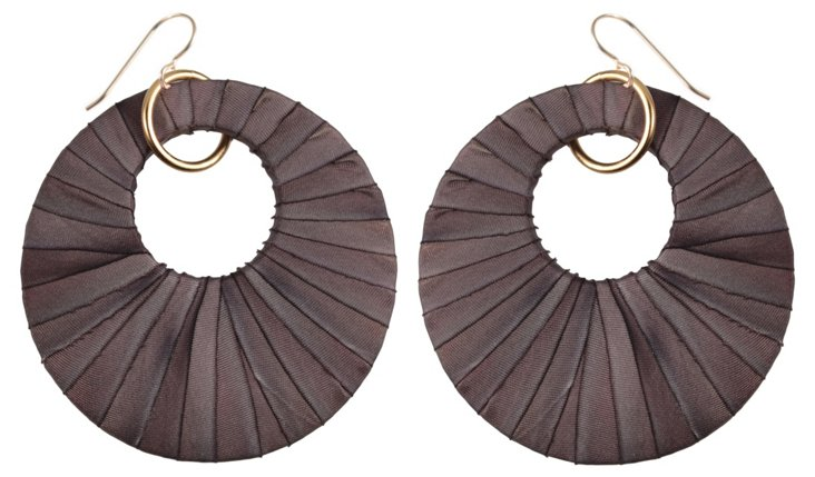 Persephone Earrings, Taupe