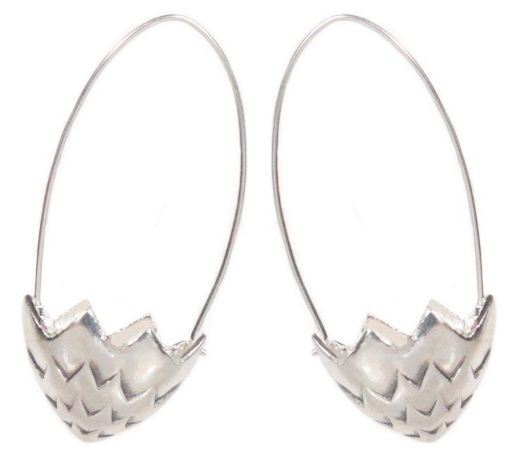 Brister Earrings, Sterling Silver