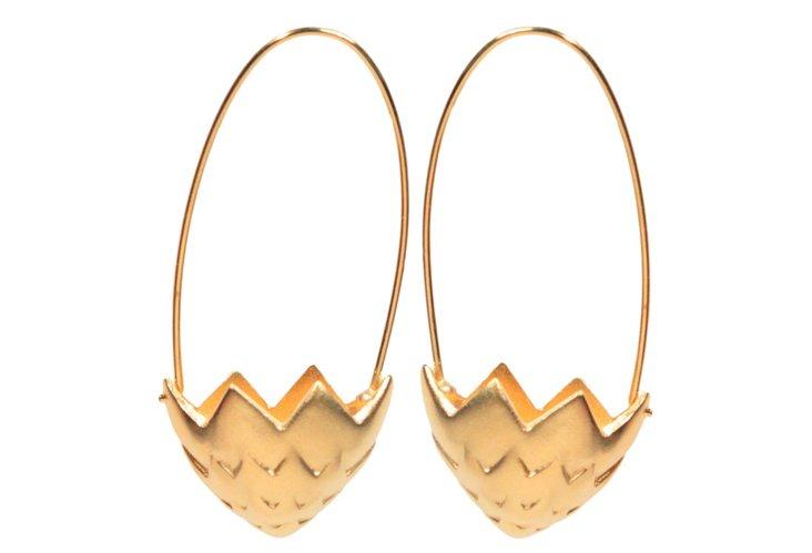 Brister Earrings, Gold