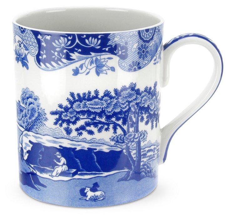 S/4 Blue Italian Mugs