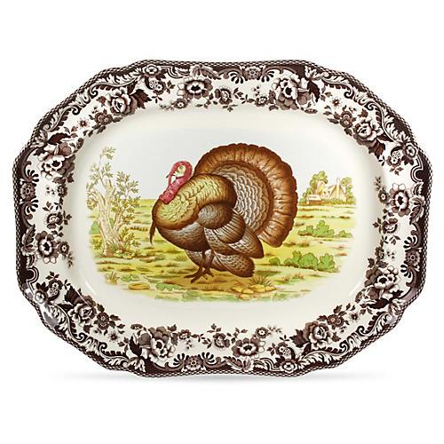 Woodland Turkey Octagonal Platter