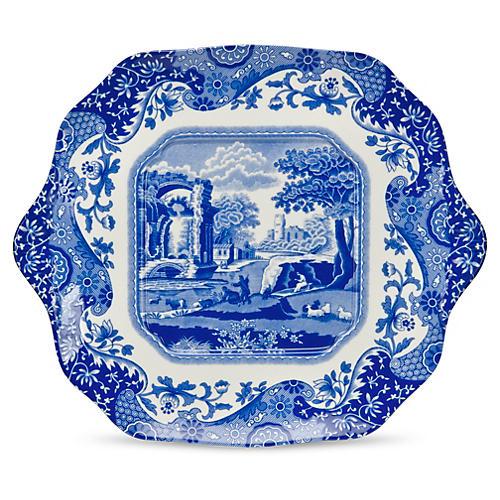 """Blue Italian Bread & Butter Plate, 11"""""""