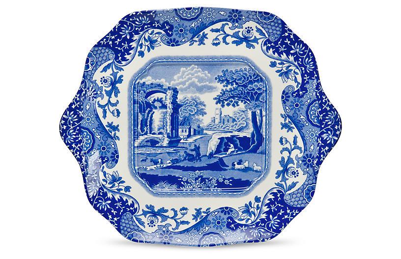 Blue Italian Bread & Butter Plate, 11