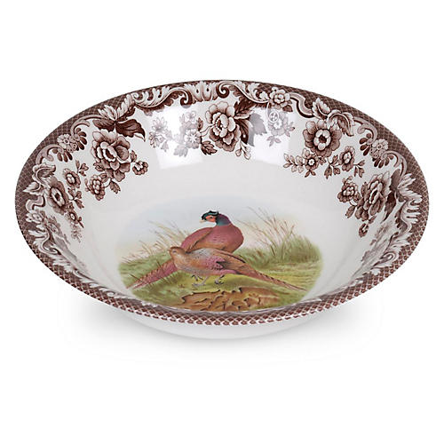 "8"" Woodland Pheasant Cereal Bowl"