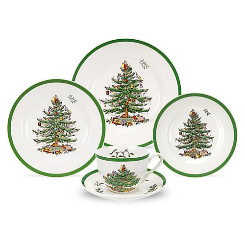 Asst. of 5 Christmas Tree Place Settings