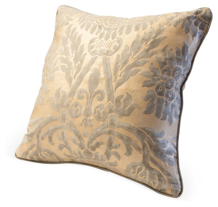 Gray & Gold Fortuny Pillow