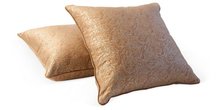 Fiori Fortuny Pillows, Pair, II