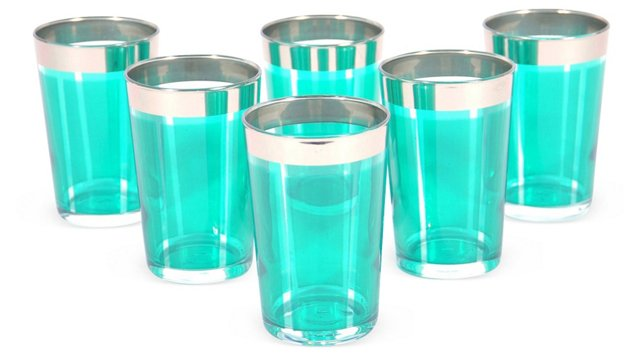 S/6 Lozange Moroccan Glasses, Smoke