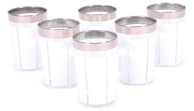 S/6 Platine Moroccan Glasses, Smoke