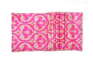 Pink Crest Silk Velvet Ikat Runner