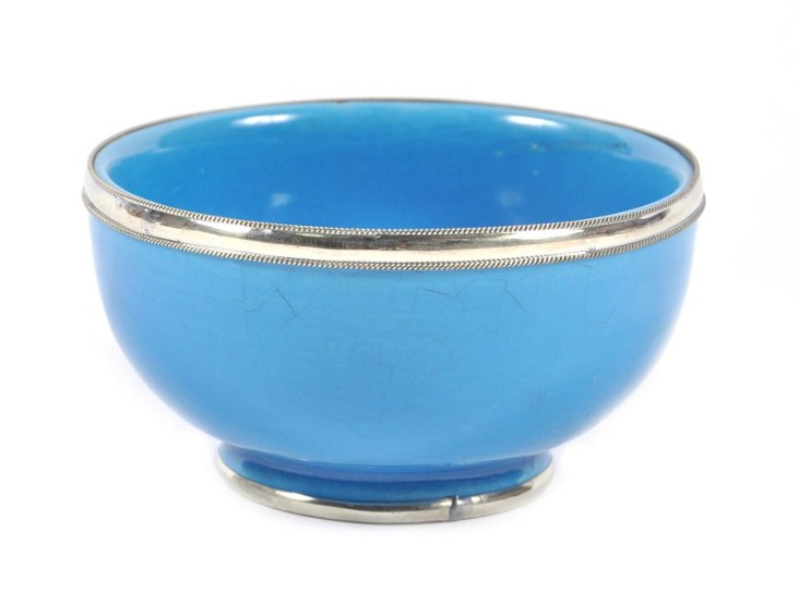 Ceramic Moroccan Bowl, Aqua