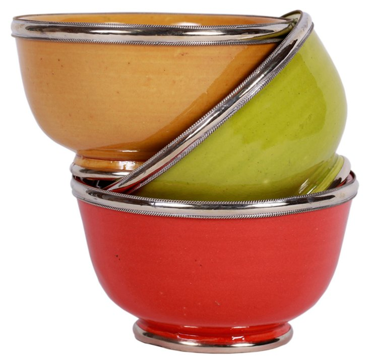 S/3 Grace Moroccan Bowls