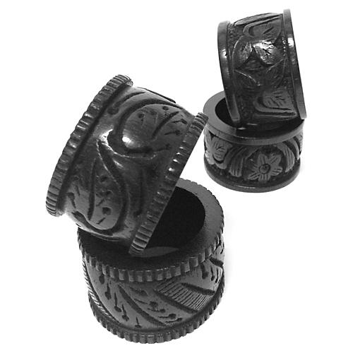 S/4 Serengeti Napkin Rings, Black