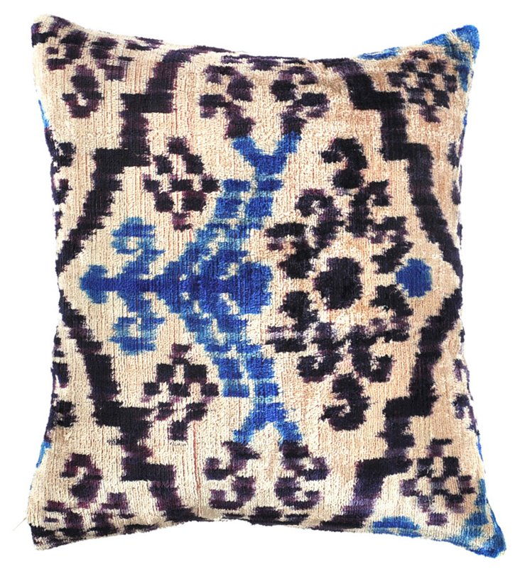 Seal 15x15 Silk Velvet Pillow, Multi