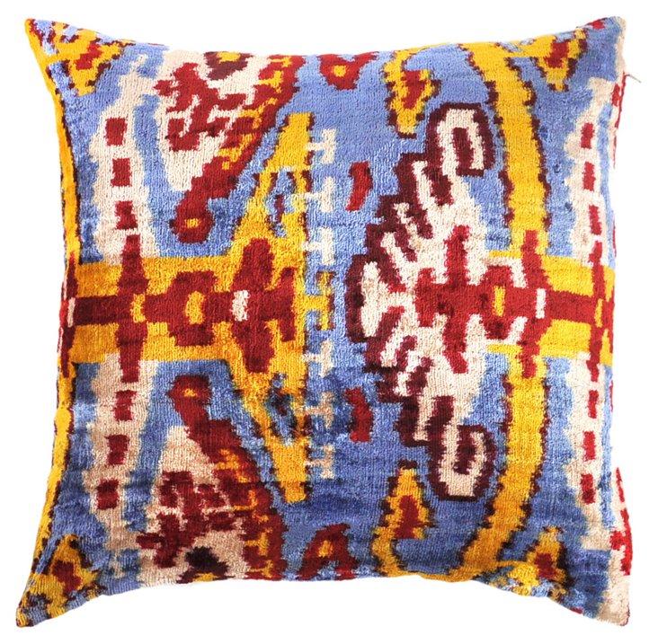 Vusa 15x15 Silk Velvet Pillow, Multi