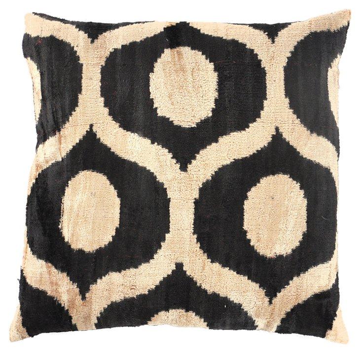 Gloria 15x15 Silk Velvet Pillow, Black