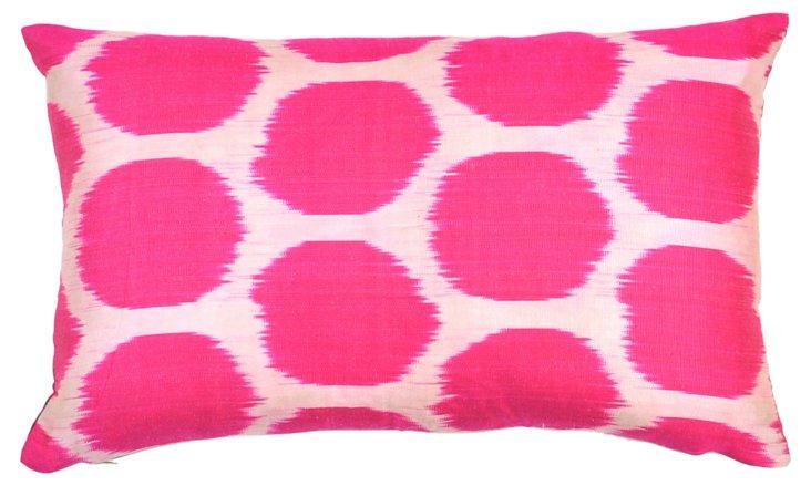Dot 14x20 Silk Pillow, Pink