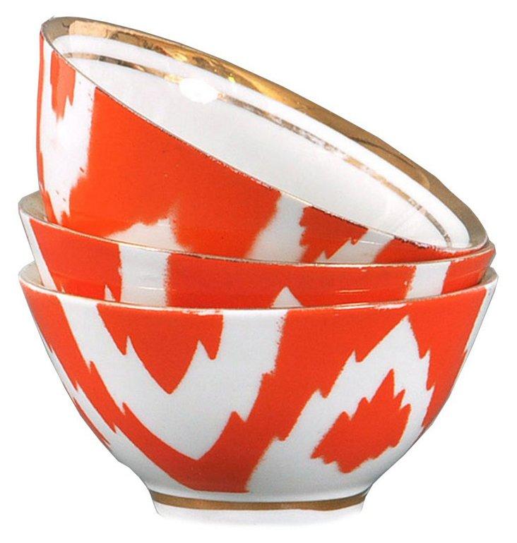 S/3 Porcelain Sun Tea Bowls