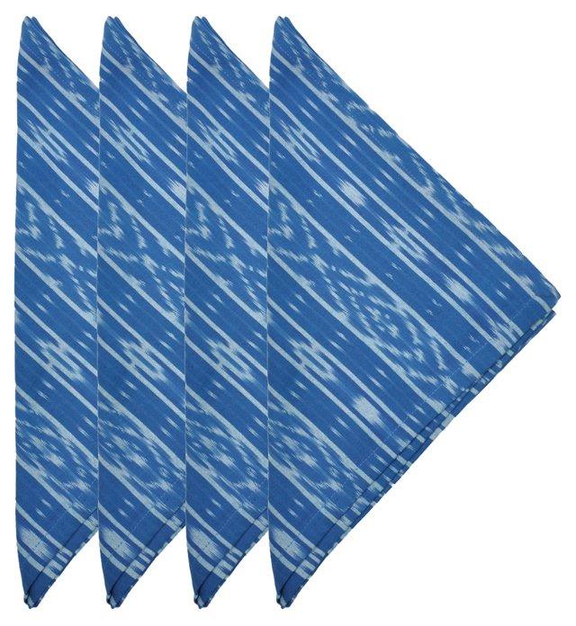 S/4 Breezy Ikat Napkins