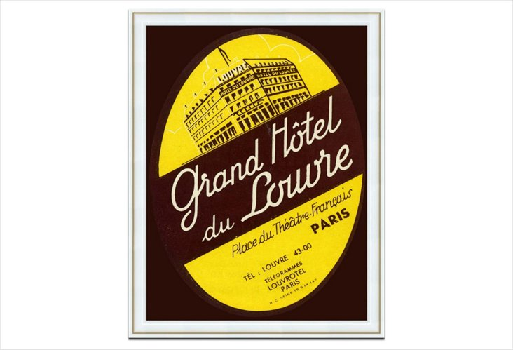 Oversize Luggage Tag, Grand Hotel