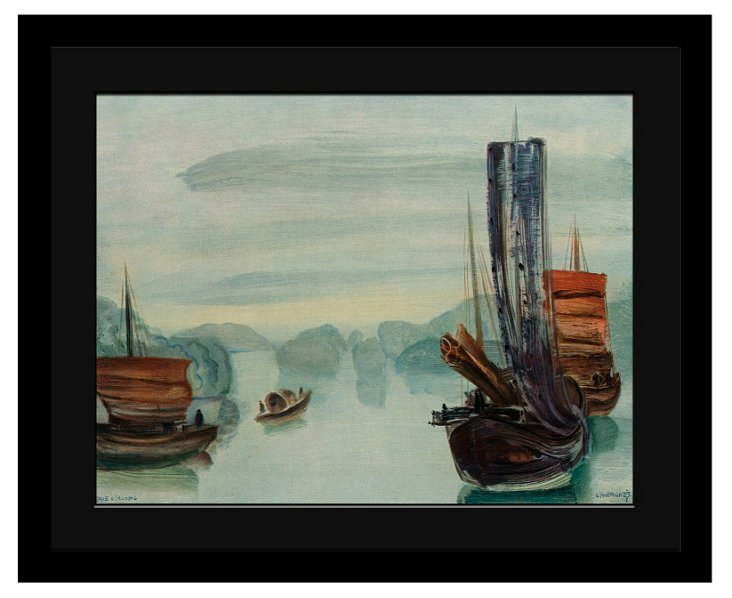 Asian Harbor Framed Print