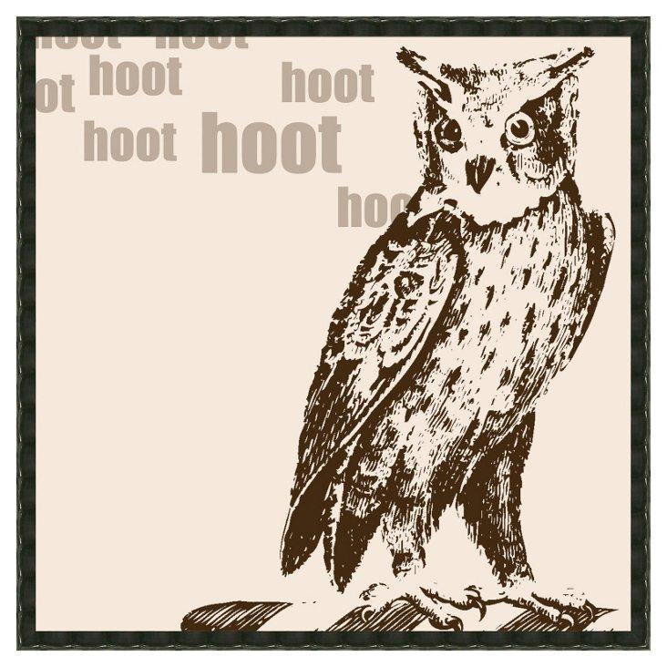 Hooty Owls Brown Print II