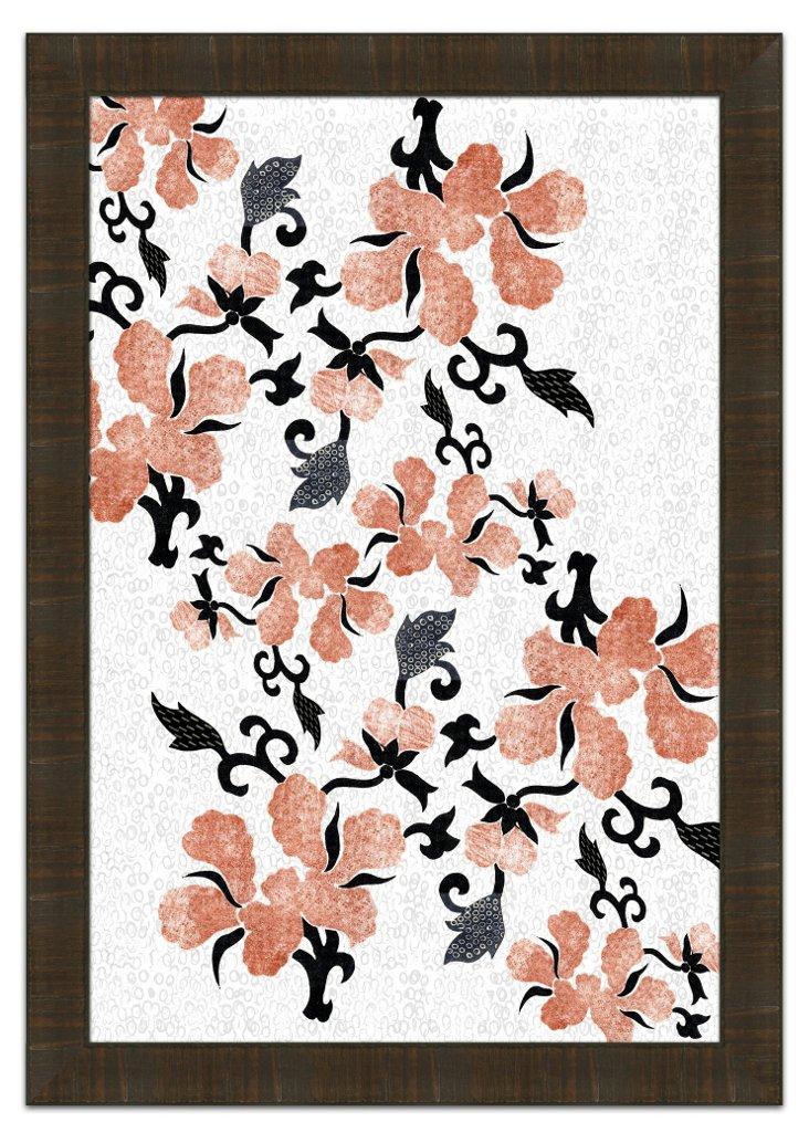 Floral Design Pink Print