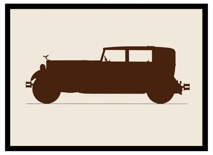 Vintage Car Framed Print III