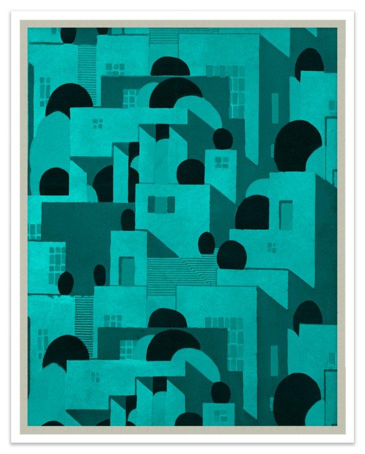 Turquoise Geometric Shapes