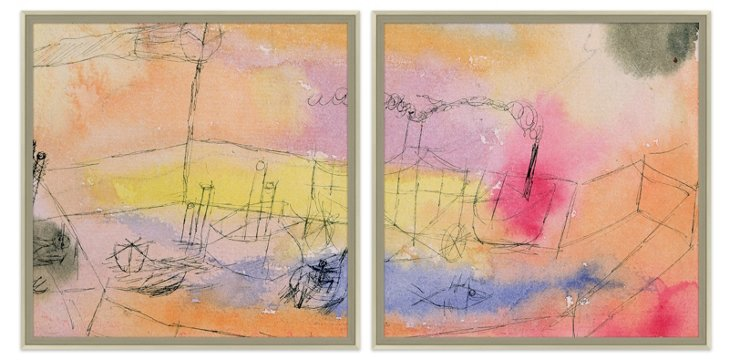 Paul Klee, The Fish in the Harbor