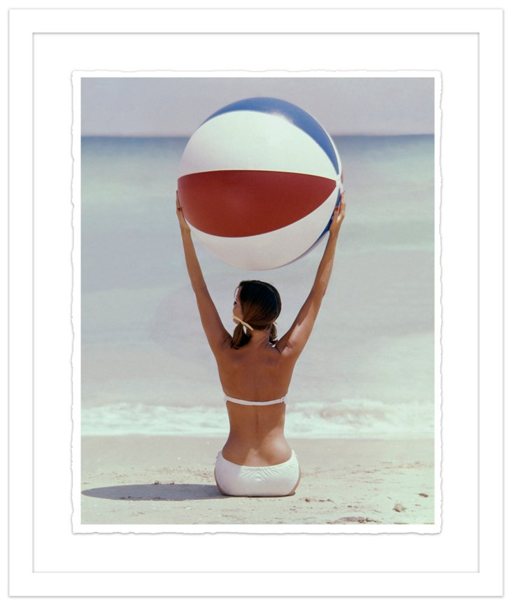 Glamour Magazine, Beach Ball, July 1960