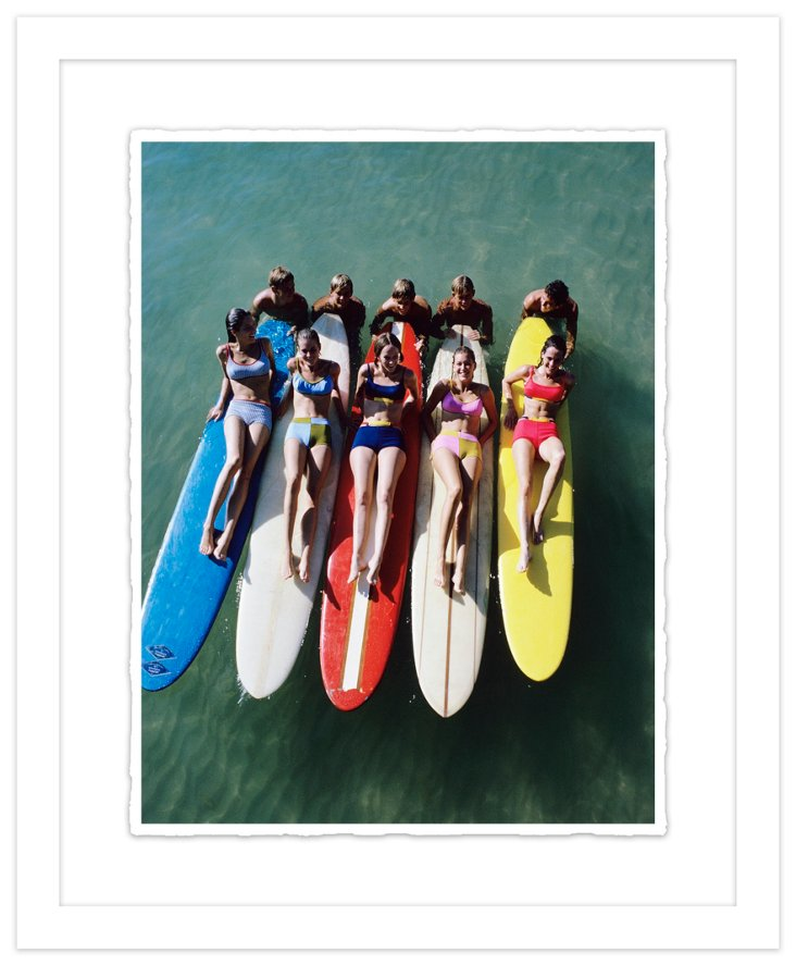 Glamour Magazine, Color Surfboards 1966