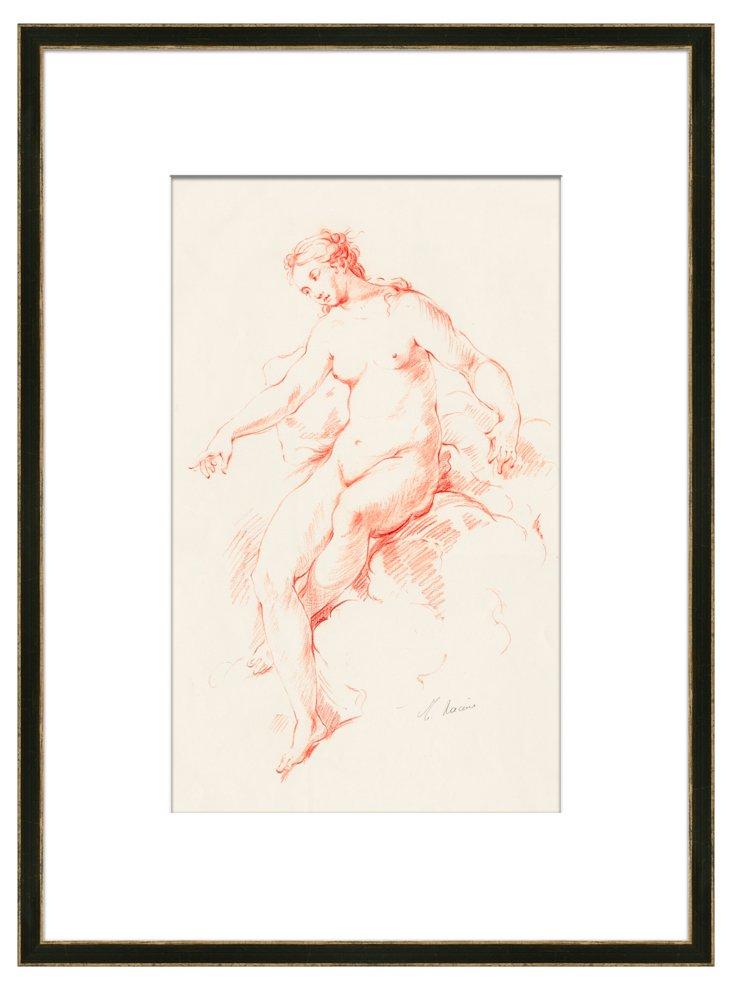 Racine Red & White Figures I