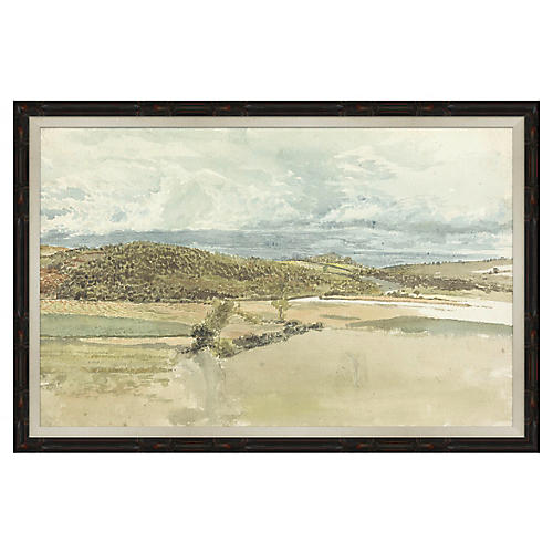 Landscape in Black Frame