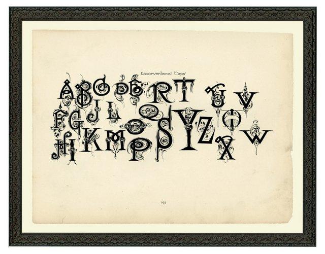 Unconventional Caps Alphabet